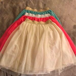 Set of 3 GAP KIDS Girls Sparkling Tull Skirts